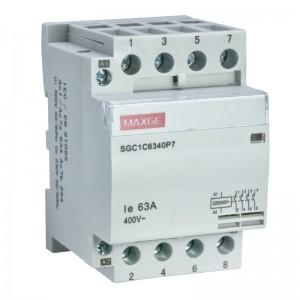 Contactor modular 4 polos...